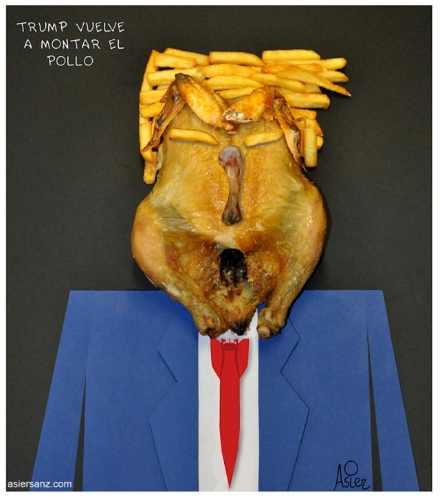 Trump monta el pollo insta